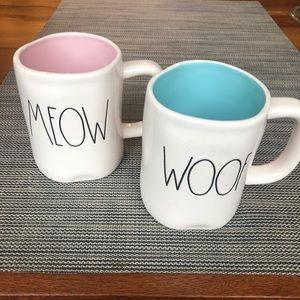 Rae Dunn Meow & Woof 16 oz New mugs